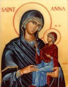 icon of St. Anne